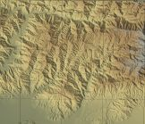 [Map]: Shaded relief map of the SDEF area